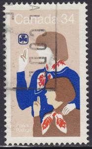Canada 1062 USED 1985 Girl Guide & Brownie 34¢