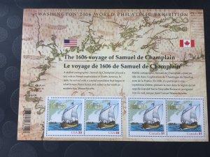 Canada Mint NH #2156 Champlain surveys the east coast