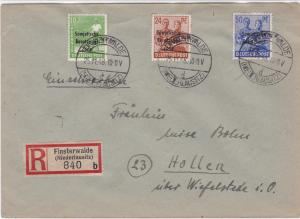 Germany Soviet Zone 1948 Finsterwalde to Hollen  stamps cover  R20718