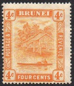 Brunei 1929 4c orange MH