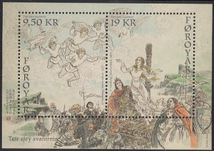 Faroe Islands 2017 MNH Sc #688a Sheet of 2 Legend of the Seven Swans