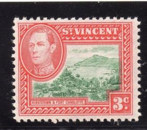 St Vincent 1949 Early Issue Fine Mint Hinged 3c. 295694