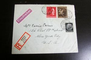 Germany 1938 Currency Control Censorship Cover Rare