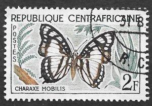 Central African Republic Scott #6 2fr Butterfly (1961) CTO H