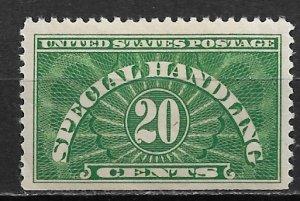 1928 USA QE3 Special Handling 20¢ MNH