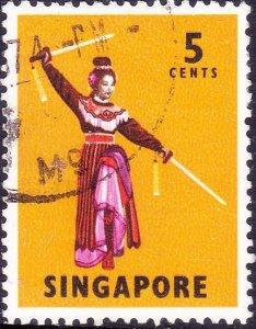 SINGAPORE 1973 5c Multicoloured SG103b FU