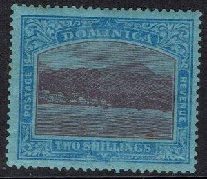 DOMINICA 1921 VIEW 2/- WMK MULTI SCRIPT CA