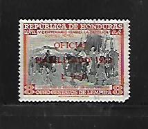 HONDURAS, C215, USED, SURCHD HABILITADO 1953