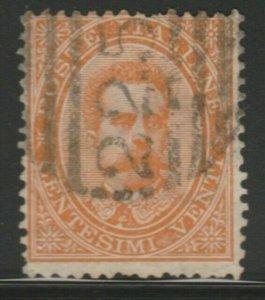 Italy Kingdom 1879 King Umbert I 20c Used A18P28F39