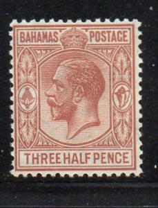 Bahamas Sc 73 1924 1 1/2d fawn George V stamp mint
