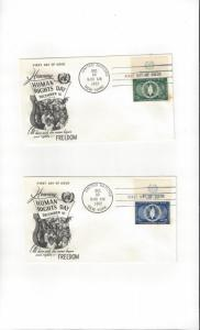 United Nations 13-4  Human Rights  FDC Fleetwood Cachet