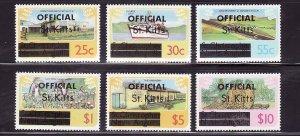 St. Kitts-Sc#O2a-O10a ex O4a- id7-unused NH Official set-unwmk-Ships-1980-