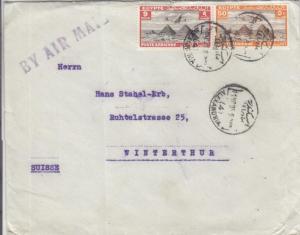 1935, Alexandria, Egypt to Winterthur, Switzerland, Airmail (28174)