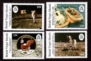British Virgin Islands 641-644 Mint NH Apollo 11!