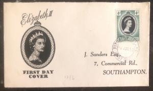1953 Pitcairn Islands Coronation first day cover FDC QE 2 Queen Elizabeth II UK