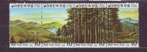 J23378 JLstamps 1975 south korea strip/4 set mh #954 forests trees