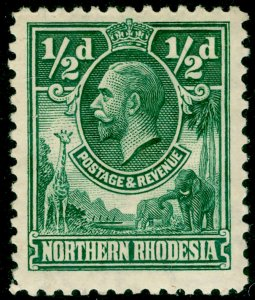 NORTHERN RHODESIA SG1, ½d green, M MINT.