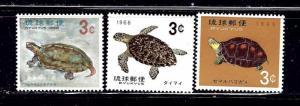 Ryukyu Is 136-38 MNH 1965-66 Turtles