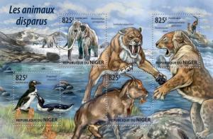 NIGER 2015 SHEET EXTINCT ANIMALS WILDLIFE nig15207a
