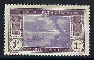 Ivory Coast 42 MOG THIN FAULTS 1061G-3