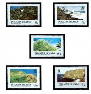 Pitcairn Is 198-202 MNH 1981 Island Scenes      (KA)