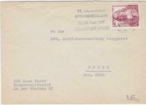 Germany Frankfurt Main 1957 Motor show slogan cancel  stamps cover R20914