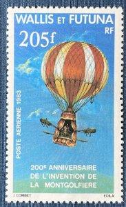 Wallis and Futuna Islands C121 MNH Manned Flight Bicentenary (SCV $5.50)