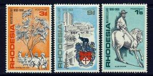 RHODESIA QE II 1968 Matabeleland 75th. Anniversary Set SG 427 to SG 429 MINT
