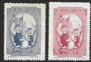 China -PRC   185-86  1953  set  2  Unused