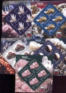 Romania 2010 STAMPS Minerals Caves sheets nature MNH full set