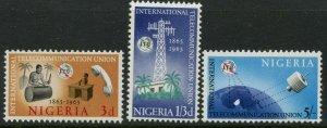 NIGERIA Sc#175-177 SG#163-165 1965 ITU Centenary Complete OG Mint LH