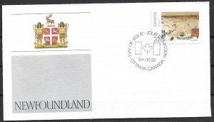 1984 Canada 1026 Canada Day:  Newfoundland FDC