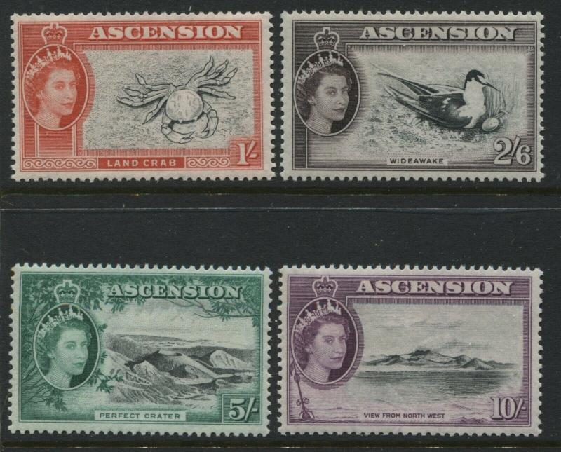 Ascension QEII 1956 1/ to 10/ mint o.g.