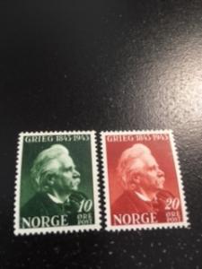 Norway sc 255,256 MNH