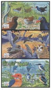 Solomon Islands 2004 birds  fauna 3 s/s MNH