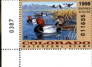 COLORADO STATE DUCK STAMP  CO9h MNH BIN $6.00