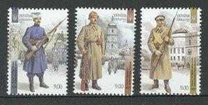 Ukraine 2020 Soldiers 3 MNH Stamps