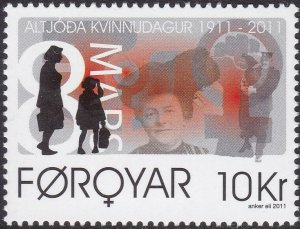 Faroe Islands 2011 #548 MNH. Women's day
