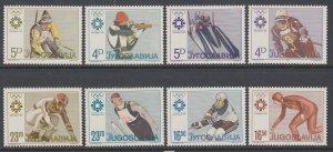 Yugoslavia 1664-1671 Winter Olympics MNH VF