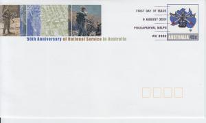 2001 Australia 50th Anniversary National Service SE FDC