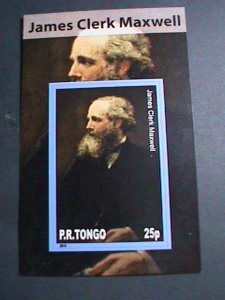 TONGA-2010 FAMOUS PERSON- JAMES CLERK MAXWELL-IMPERF: MNH S/S SHEET-VERY FINE