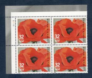 3069 Georgia O'Keeffe Plate Block Mint/nh (Free shipping offer)