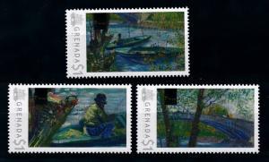 [76620] Grenada 2009 Painting Vincent van Gogh Fishing in Spring  MNH
