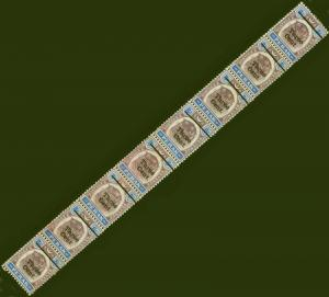 Perak 1910 3c on 8c Dull Purple & Ultramarine SG84 Good Mtd MInt Strip of 8 with