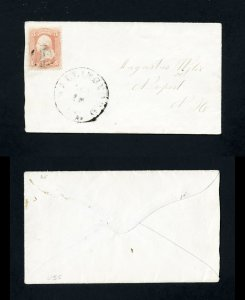 # 65 on cover from Wallingford, Vermont to Newport, New Hampshire - 1860's