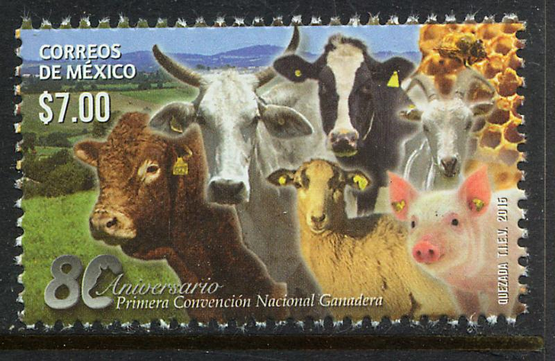 MEXICO 2928, National Livestock Convention, 80th Anniv. MINT, NH. VF.