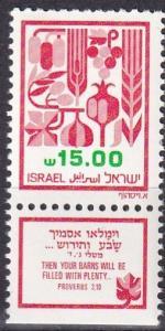 Israel #814  MNH With Tab