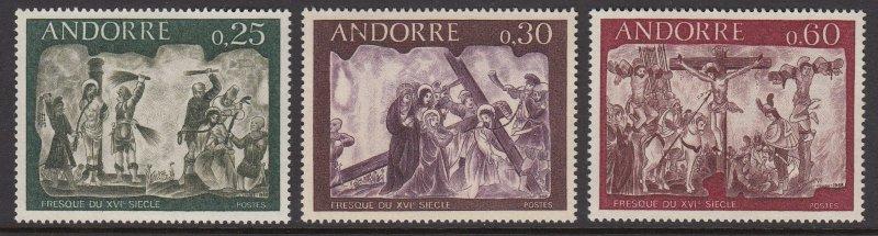 Andorra 185-7 Frescoes MNH