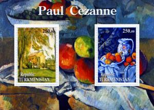 Turkmenistan Paul Cezanne Mini Sheet Perforated mnh.vf