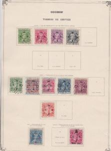 india states cochin stamps on 2 album page ref 13422
